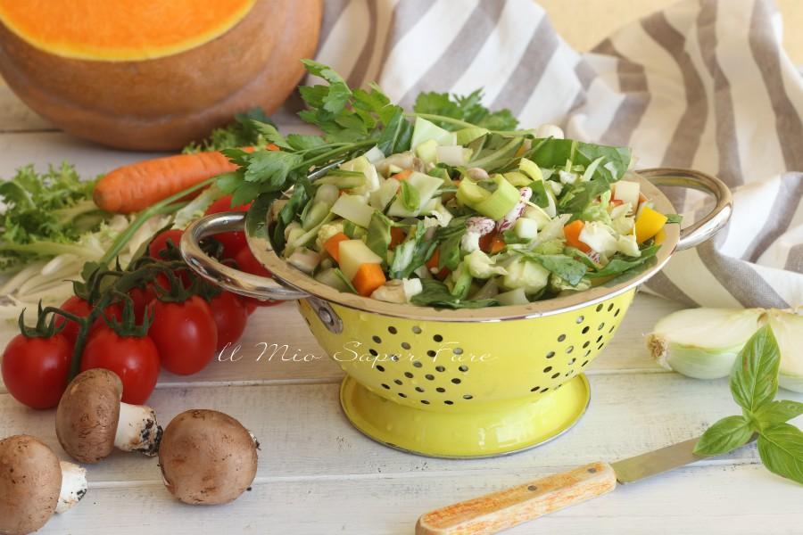 Minestrone di verdure ricetta facile
