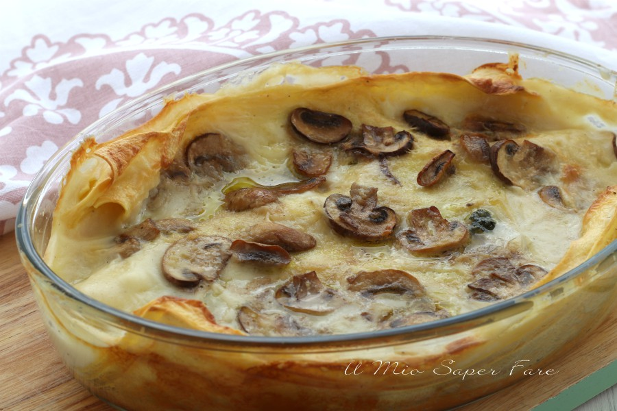Lasagne ai funghi ricetta facile e veloce il mio saper fare