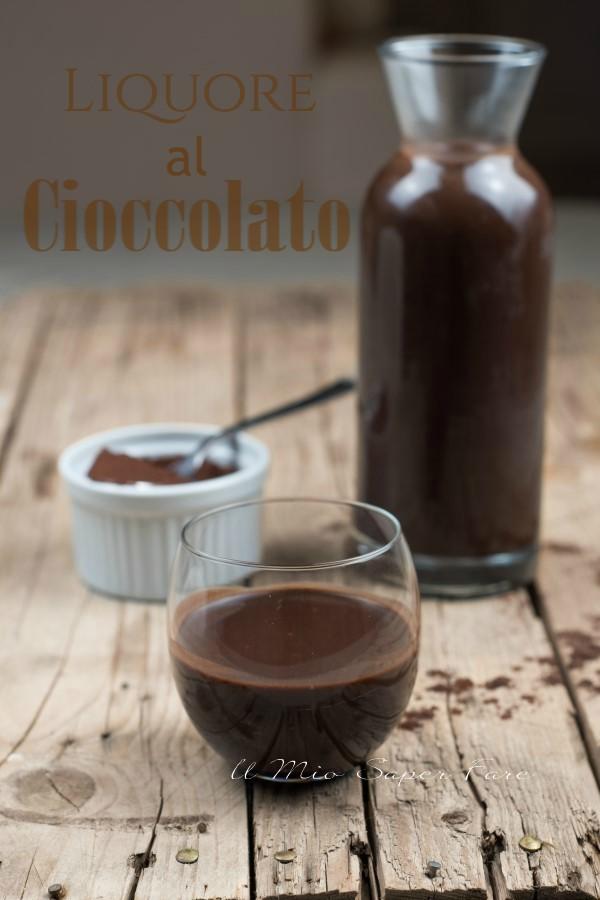 Liquore al cioccolato ricetta con cacao e panna il mio saper fare