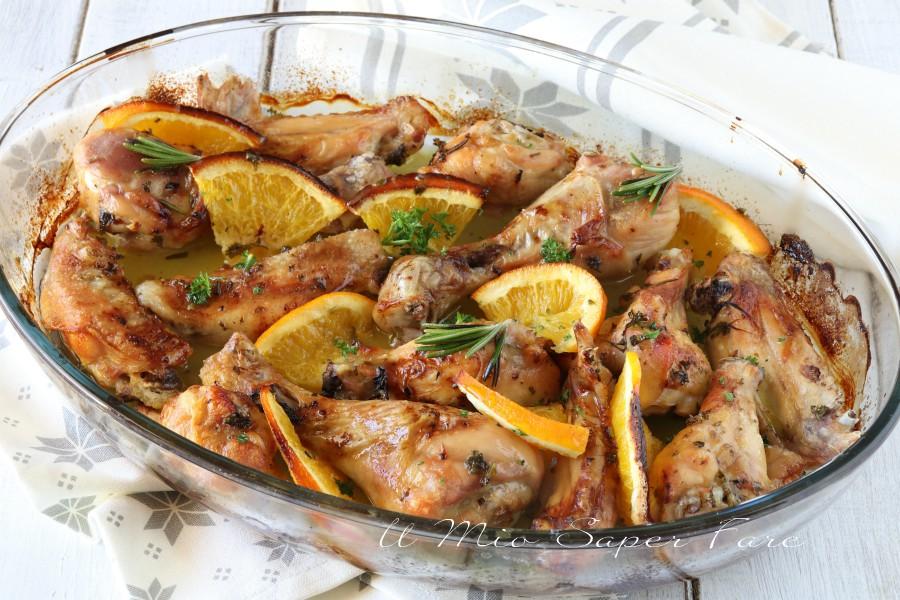 Pollo all'arancia ricetta al forno il mio saper fare