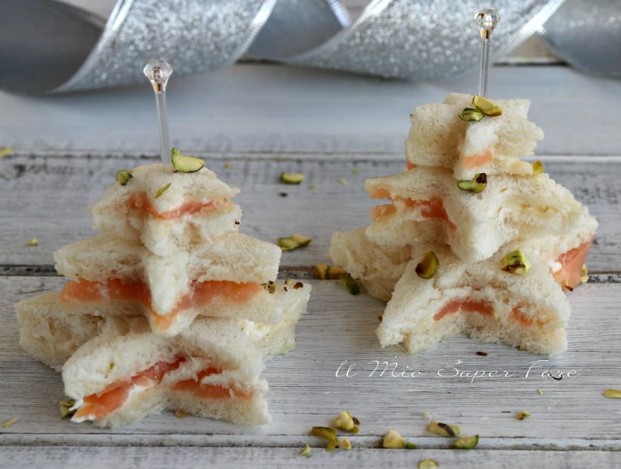 Tartine natalizie al salmone ricette di Natale il mio saper fare