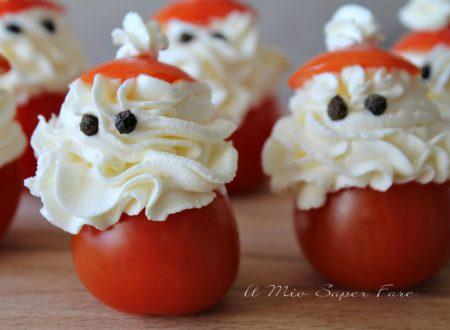 Pomodori ripieni Babbo Natale