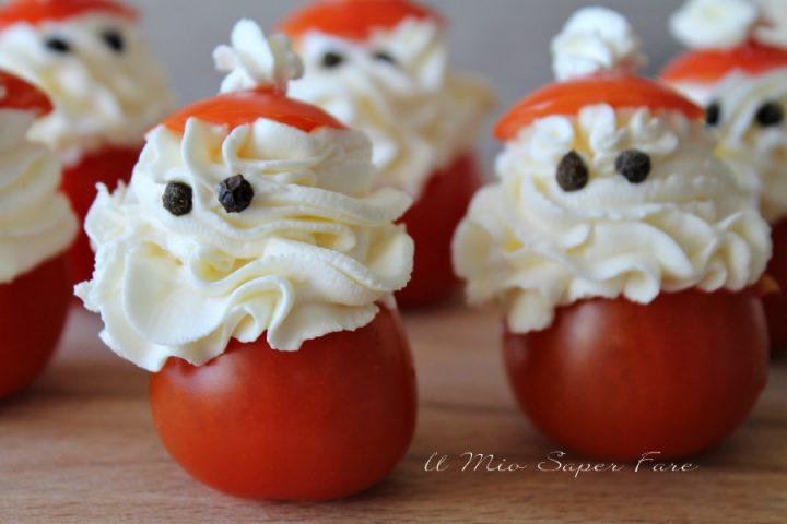 Pomodori ripieni Babbo Natale ricette natale il mio saper fare