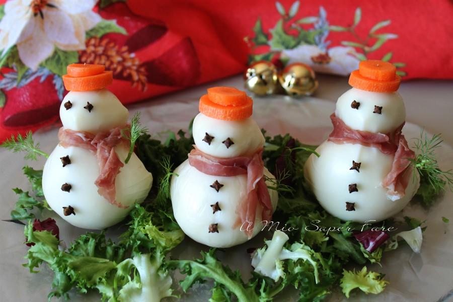 Pupazzi di neve fatti con mozzarelle ricette il mio saper fare