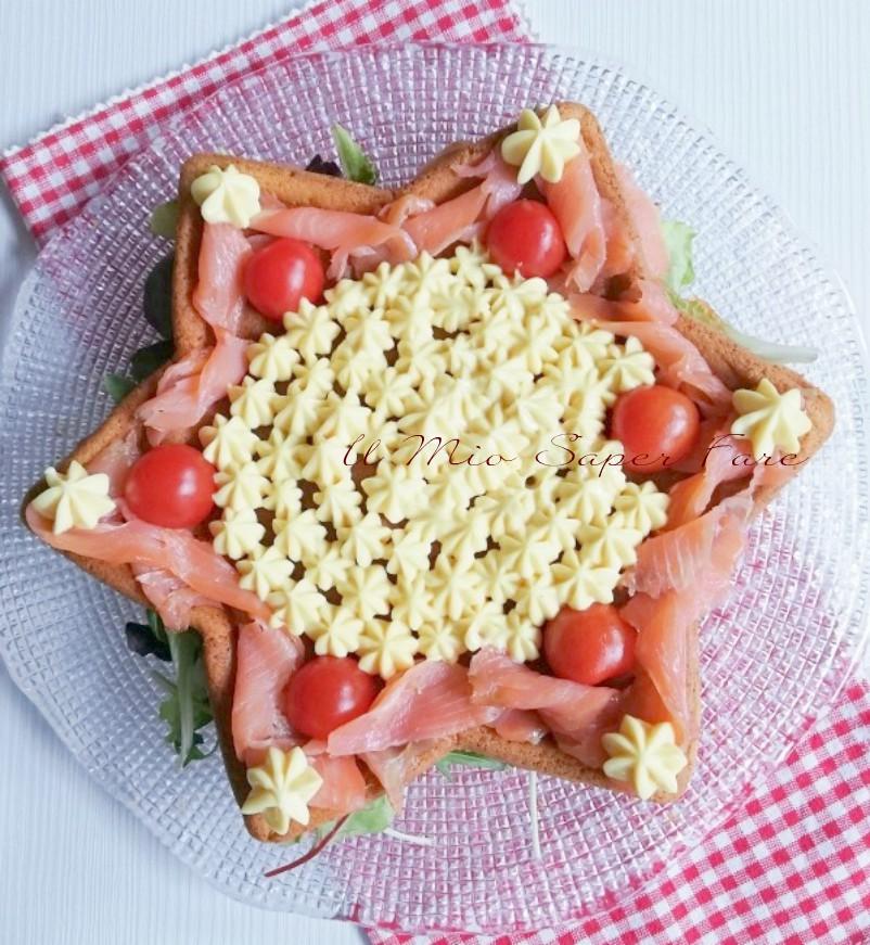Stella salata 7 vasetti al salmone ricette Natale il mio saper fare