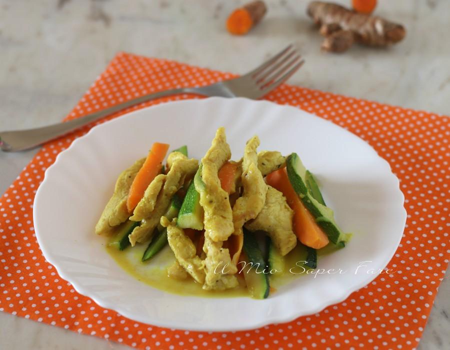 Straccetti di pollo in padella con zucchine ricette il mio saper fare