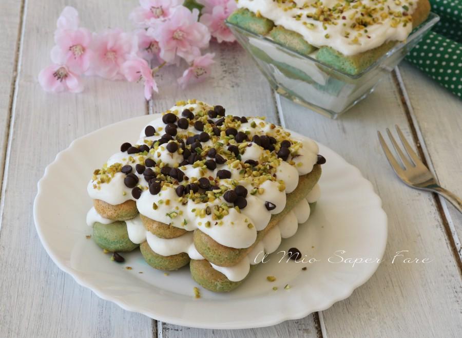 Tiramisu alla menta senza uova con cioccolato e pistacchio ricette il mio saper fare
