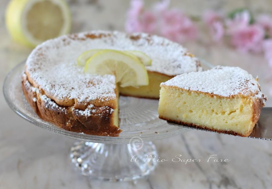 Torta moelleux al limone dolce senza farina ricetta il mio saper fare