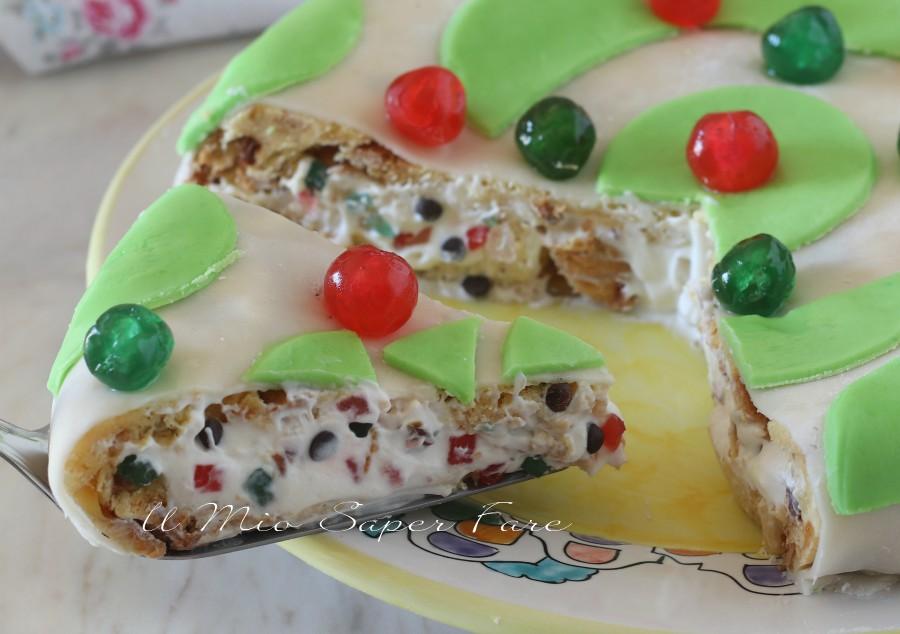 torta cassata di panettone ricotta e gocce di cioccolato ricettariciclo il mio saper fare