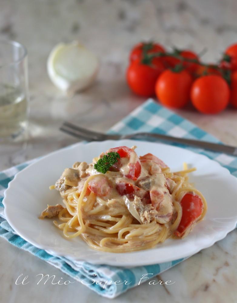 Pasta tonnata con pomodorini ricetta il mio saper fare