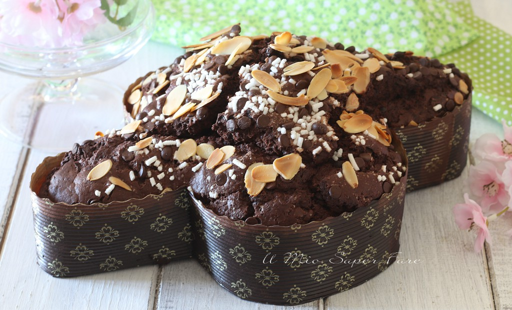 Colomba al cioccolato fatta in casa dolce di Pasqua il mio saper fare