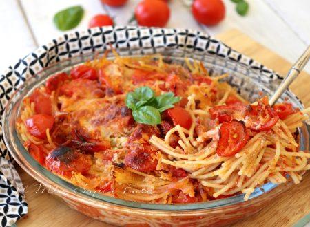 Spaghetti arraganati ricetta pasta al forno tutto a crudo