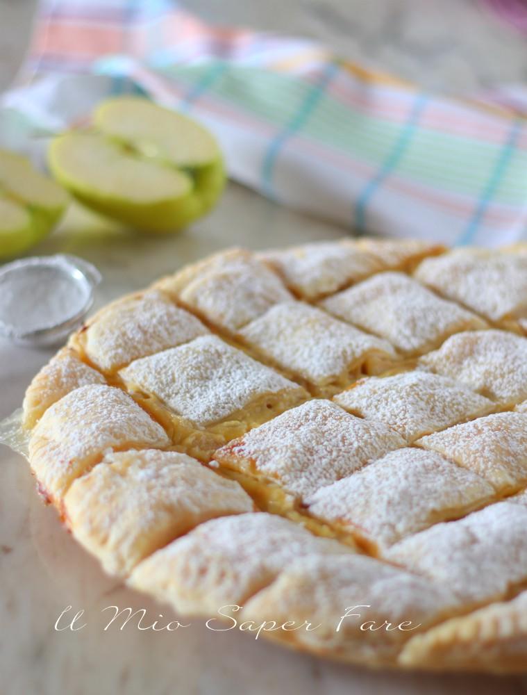 Torta trapunta alle mele ricetta con pasta sfoglia il mio saper fare
