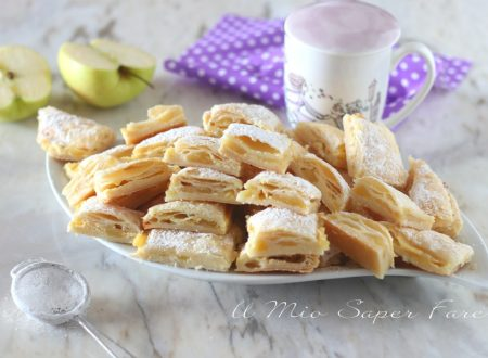 Quadrotti di mele e crema ricetta con pasta sfoglia