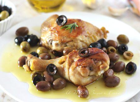 Pollo alle olive ricetta secondo piatto di carne bianca