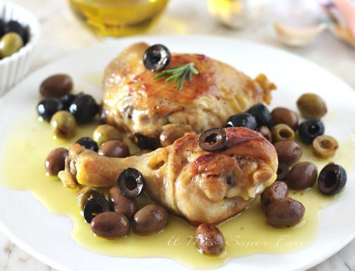 Pollo alle olive ricetta secondo piatto di carne bianca il mio saper fare