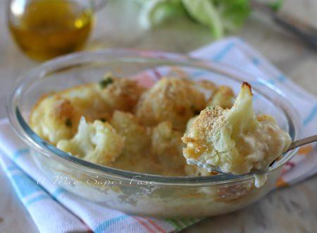 Cavolfiore gratinato al forno contorno ricetta vegetariana