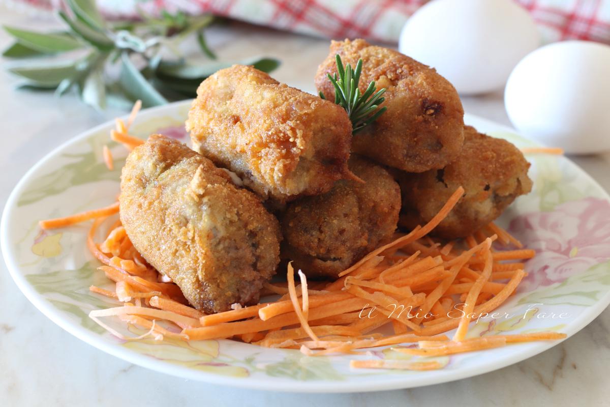 Involtini di carne impanati e fritti ricetta secondo piatto gustoso il mio saper fare