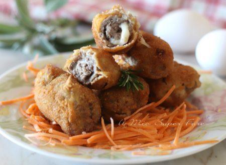 Involtini di carne impanati e fritti ricetta secondo piatto gustoso