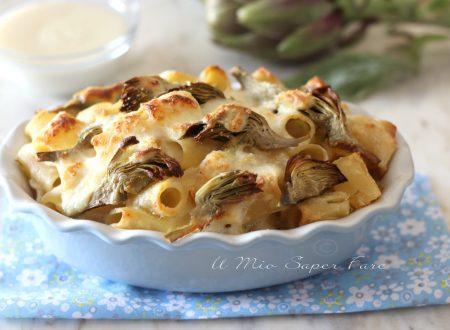 Pasta al forno con carciofi e ricotta ricetta primo piatto