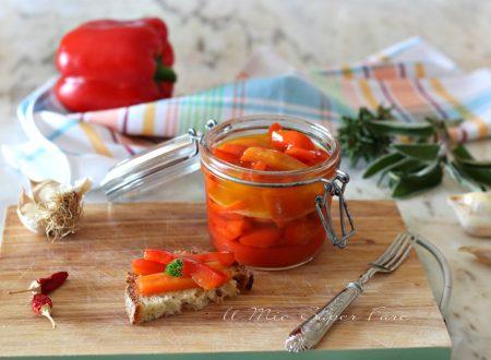 Peperoni in agrodolce fatti in casa ricetta facile