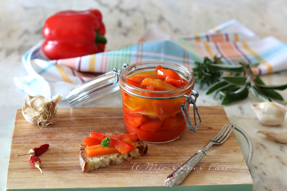 Peperoni in agrodolce fatti in casa ricetta facile il mio saper fare