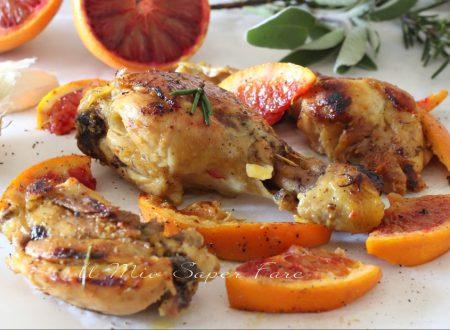 Pollo glassato con arance rosse ricetta al forno o in padella