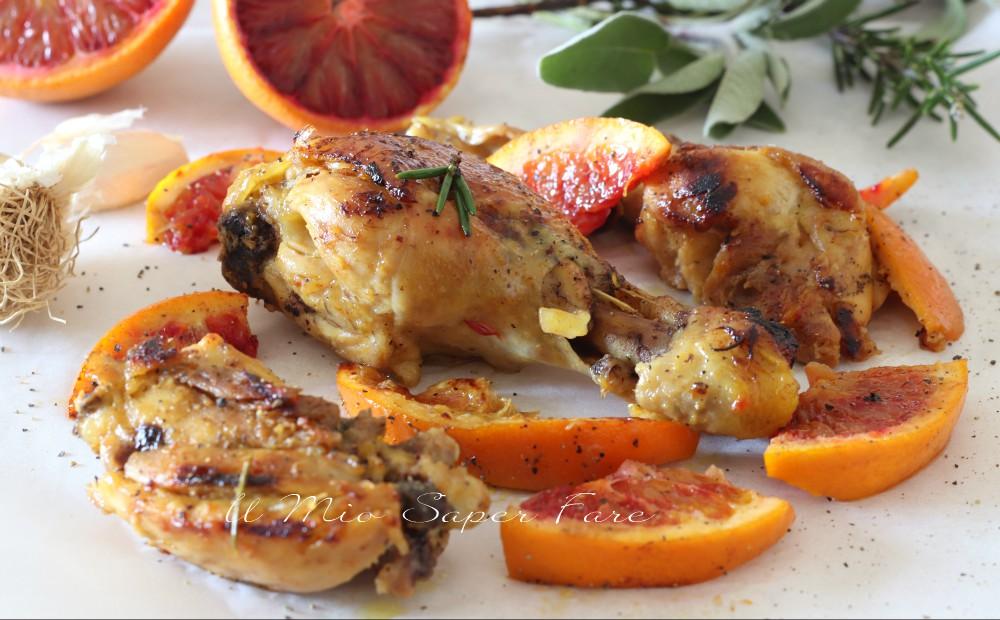 Pollo glassato con arance rosse ricetta al forno il mio saper fare