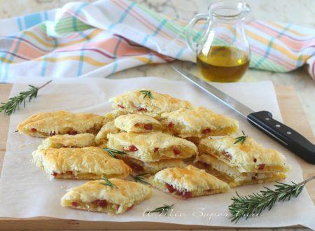 QUADROTTI  di PATATE ricetta con PASTA SFOGLIA e salame Bellafesta Light Clai