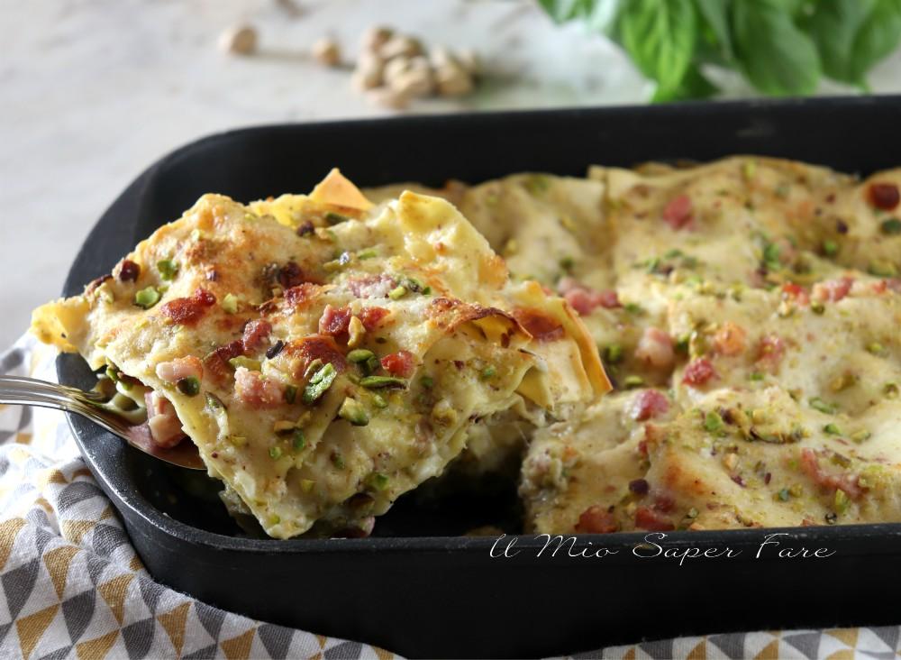 Lasagna al pistacchio ricetta pasta al forno il mio saper fare