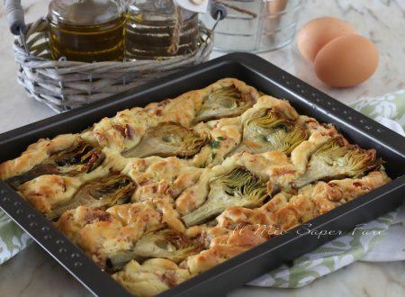 TORTA salata di RICOTTA con PROSCIUTTO COTTO e CARCIOFI