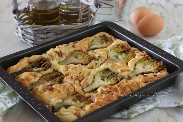 Torta salata di ricotta con prosciutto cotto e carciofi ricetta il mio saper fare