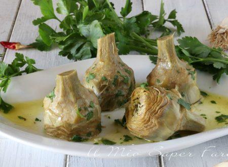 Carciofi alla romana ricetta piatto facile e leggero