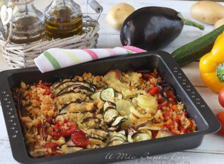 VERDURE GRATINATE al FORNO ricetta con pangrattato grossolano