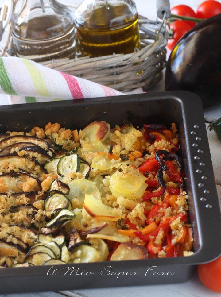VERDURE GRATINATE al FORNO ricetta con pangrattato grossolano il mio saper fare