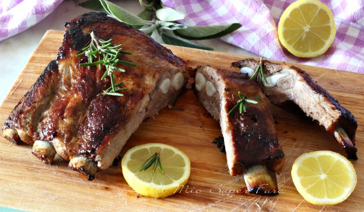 Costine di maiale al forno con marinatura al limone  ricette il mio saper fare
