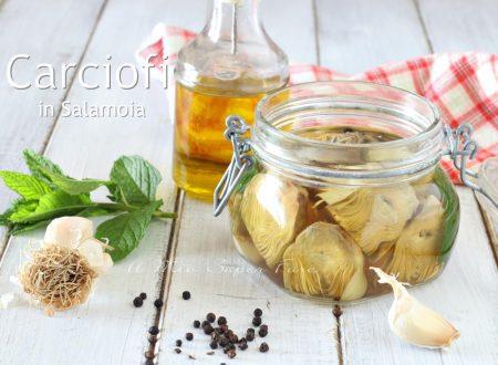 CARCIOFI in SALAMOIA ricetta per conservare i carciofi al naturale senza olio