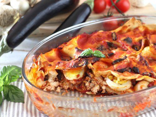 LASAGNE alla Norma ricetta PASTA al FORNO con RICOTTA e MELANZANA