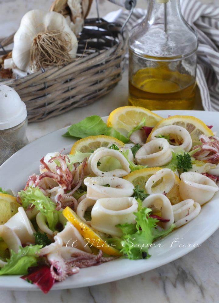 INSALATA di CALAMARI con citronette al limone  ricetta il mio saper fare