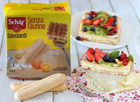 TORTA di RICOTTA con savoiardi senza glutine ricetta dolce con frutta