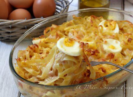 PASTA al FORNO al formaggio e prosciutto ricetta senza sugo