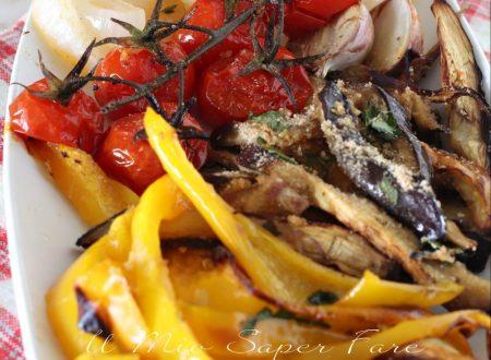 VERDURE miste GRATINATE al forno ricetta CONTORNO
