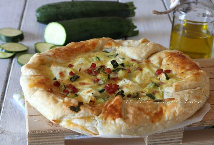 Pasta sfoglia con zucchine e prosciutto cotto ricetta torta salata veloce il mio saper fare