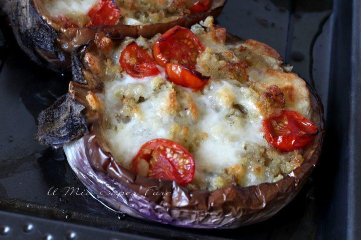 melanzane al forno ripiene con mozzarella ricetta antipasto contorno il mio saper fare