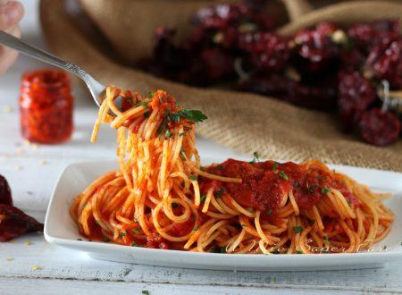 Spaghetti alla Corte d'Assise ricetta di pasta alla calabrese