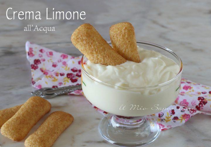 Crema limone all'acqua per tiramisù torte fredde bignè ricetta il mio saper fare