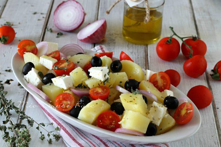 Insalata di patate alla greca ricetta senza yogurt il mio saper fare