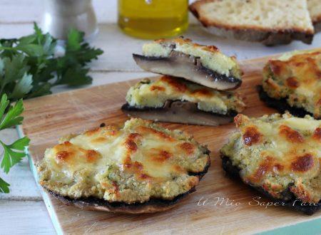 Funghi Portobello ripieni gratinati al forno