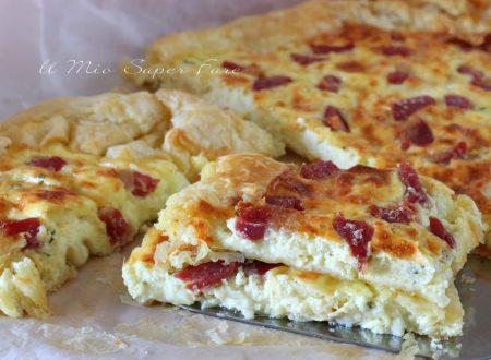 Pasta sfoglia con mozzarella e pancetta ricetta svuota frigo
