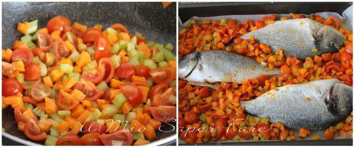 Pesce al forno con verdure ricetta il mio saper fare